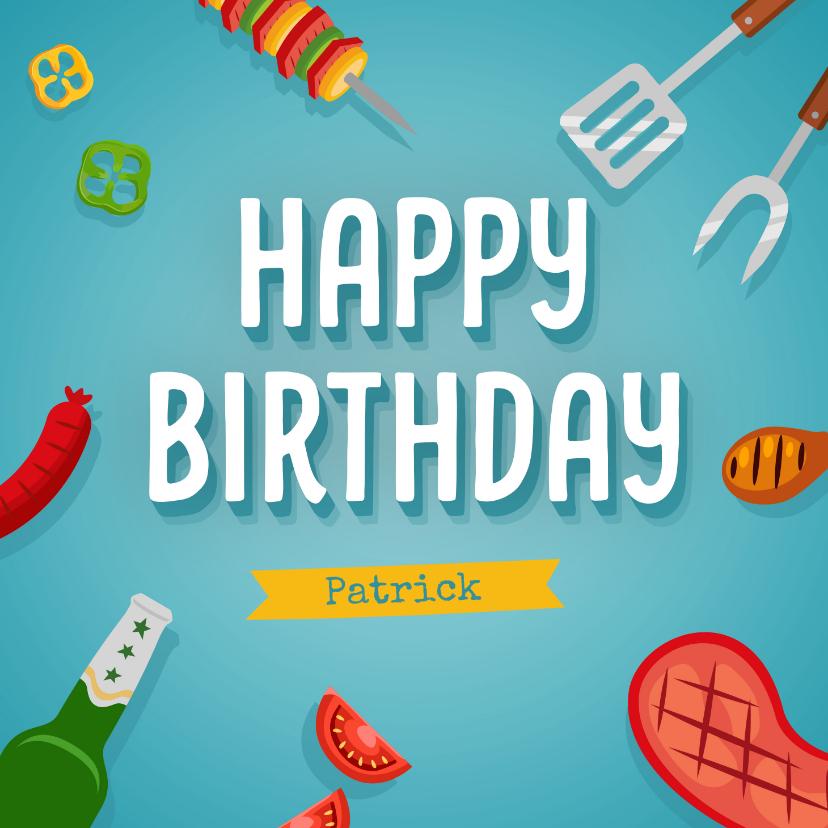 Verjaardagskaarten - Verjaardagskaart bbq