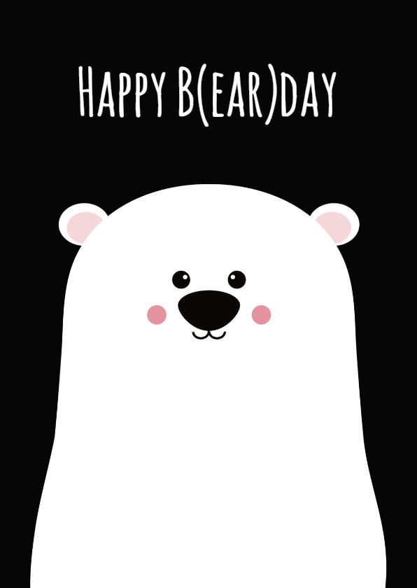 Verjaardagskaarten - Verjaardagskaart beer