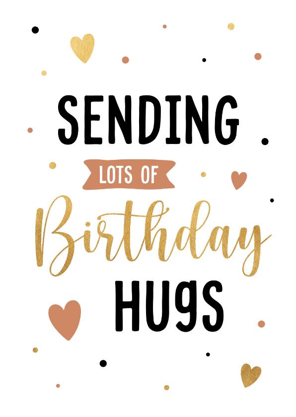 Verjaardagskaarten - Verjaardagskaart birthday hugs