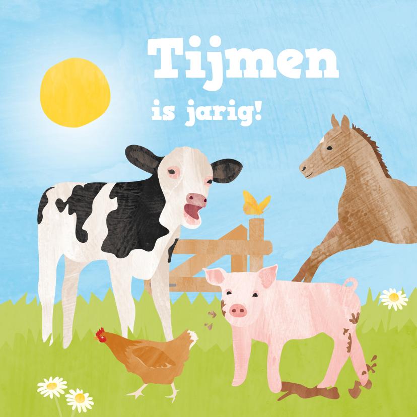 Verjaardagskaarten - Verjaardagskaart boerderijdieren