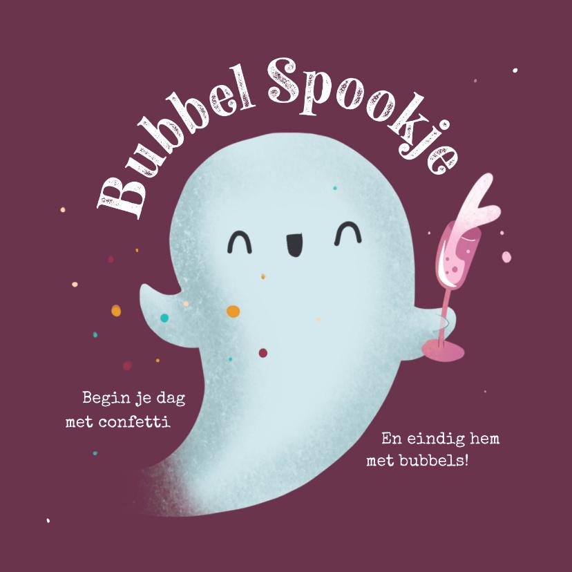 Verjaardagskaarten - Verjaardagskaart - Bubbel Spookje