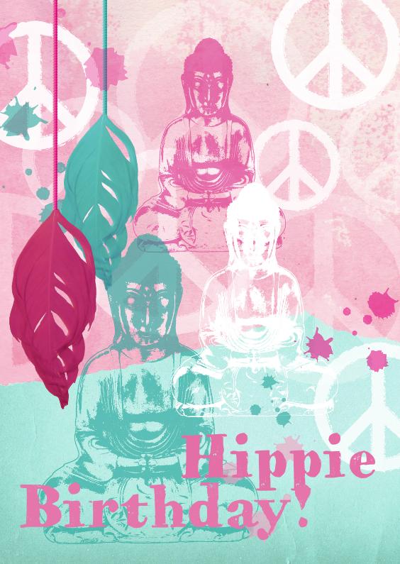 Verjaardagskaarten - Verjaardagskaart buddha bohemian stijl