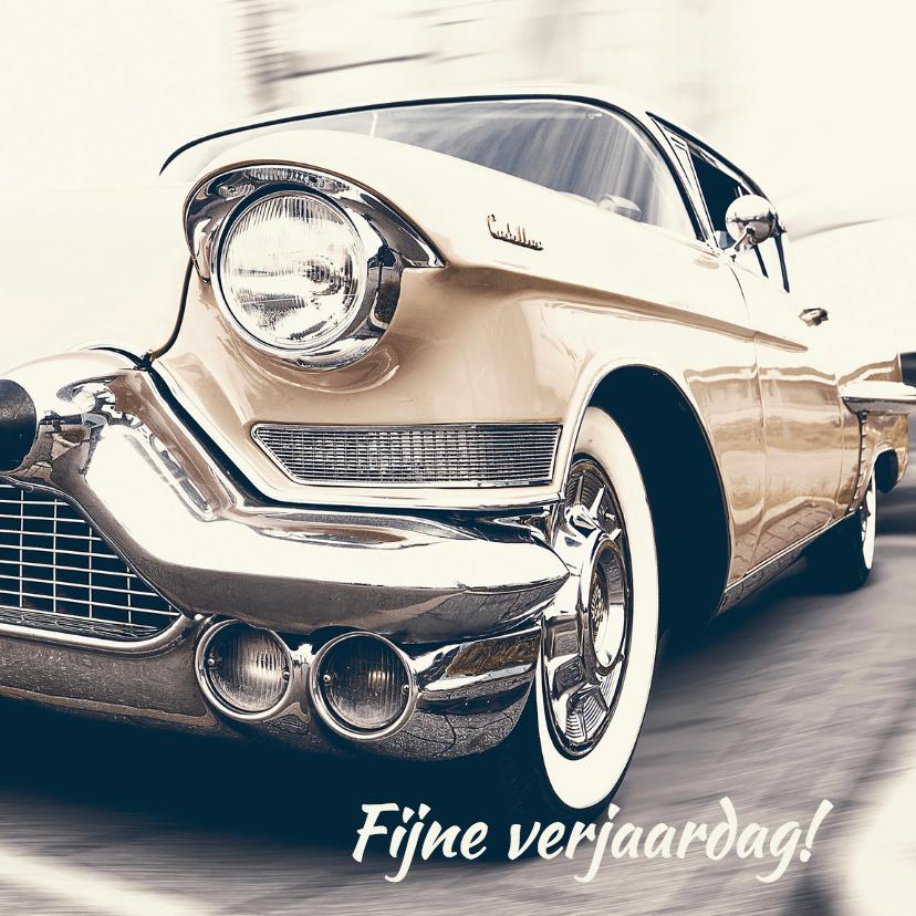 Verjaardagskaarten - Verjaardagskaart Cadillac retro