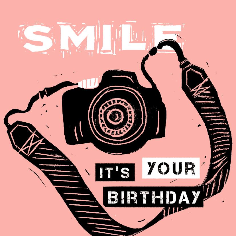 Verjaardagskaarten - Verjaardagskaart camera