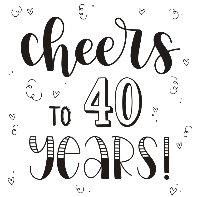 Verjaardagskaarten - Verjaardagskaart - Cheers to 40 years!