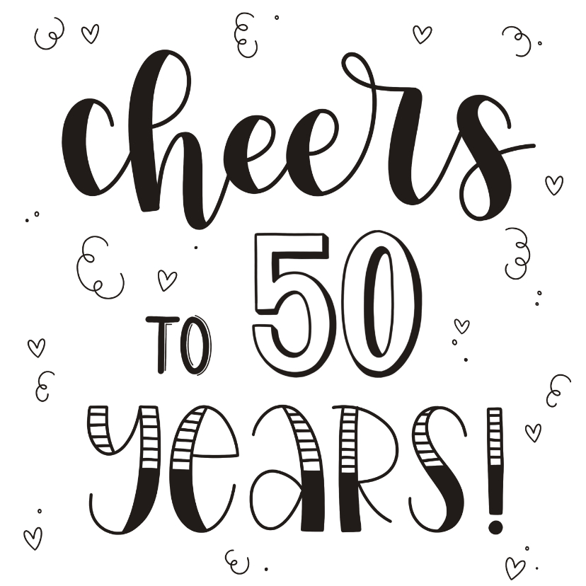 Verjaardagskaarten - Verjaardagskaart - Cheers to 50 years!