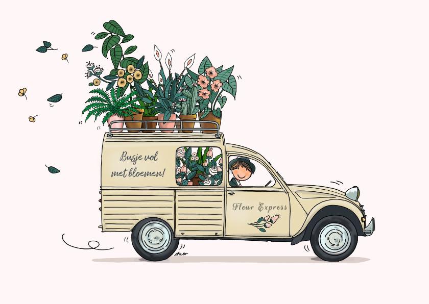 Verjaardagskaarten - Verjaardagskaart Citroën Besteleend beige