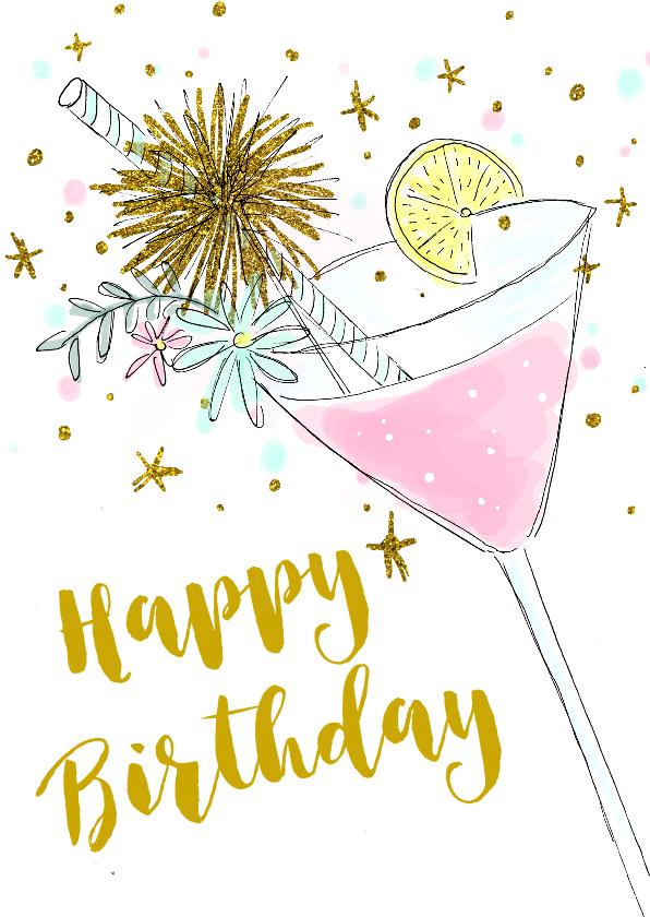 verjaardagskaart vrouw Verjaardagskaart cocktail hip vrouw | Kaartje2go verjaardagskaart vrouw