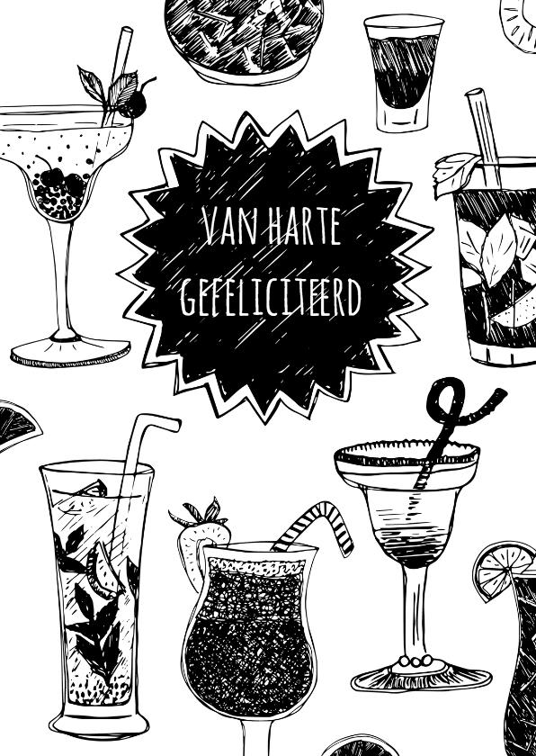 Verjaardagskaarten - Verjaardagskaart cocktails hip