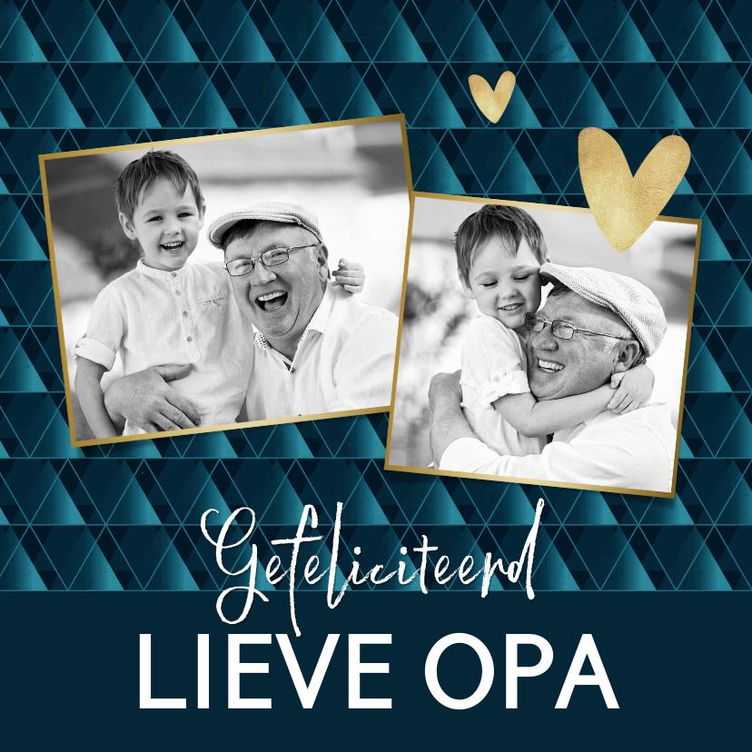 Verjaardagskaarten - Verjaardagskaart collage voor opa