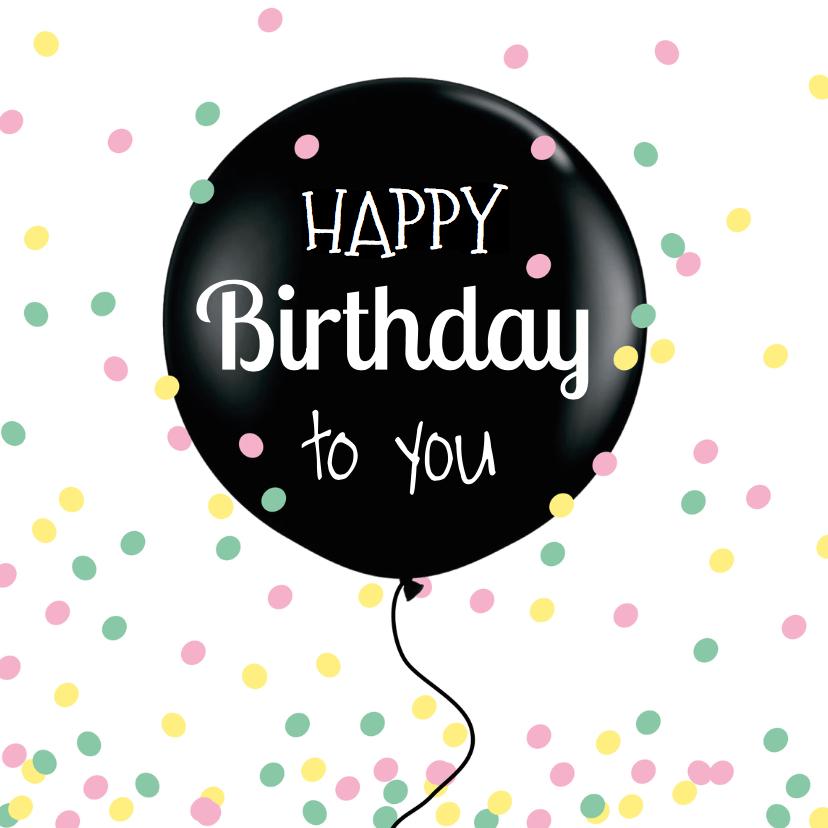 Verjaardagskaarten - Verjaardagskaart confetti pastel