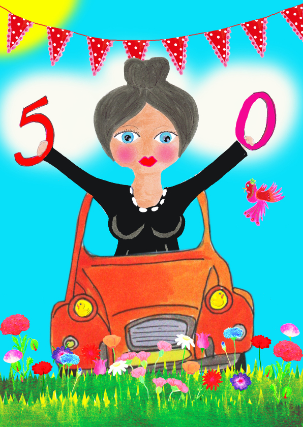 Verjaardagskaarten - Verjaardagskaart Corly 50 PA