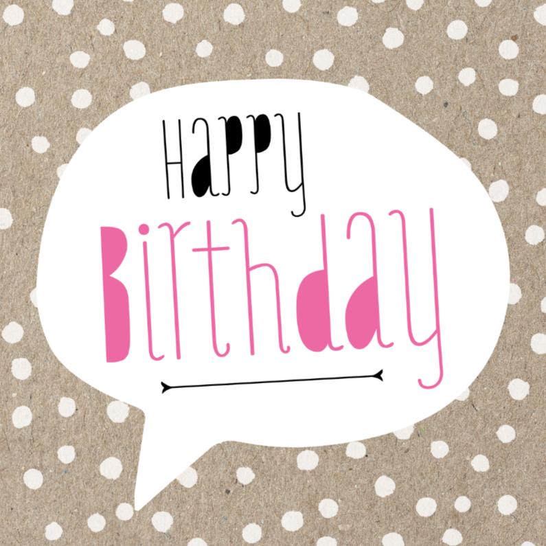 Verjaardagskaarten - Verjaardagskaart Craft