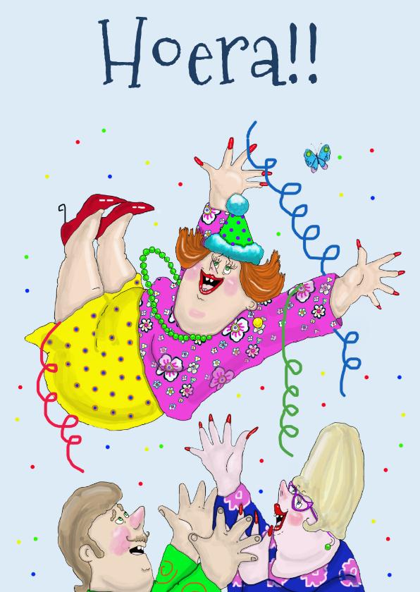 Verjaardagskaarten - Verjaardagskaart De jarige in de lucht