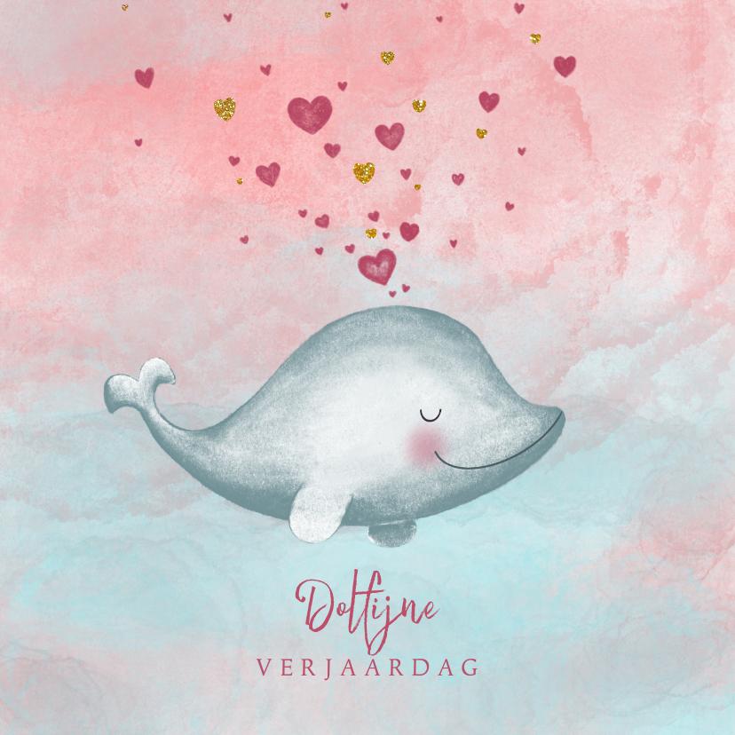 Verjaardagskaarten - Verjaardagskaart dolfijne verjaardag