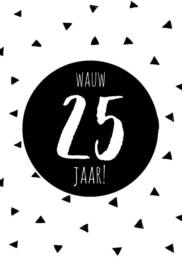 Verjaardagskaarten - Verjaardagskaart driehoekjes stoer