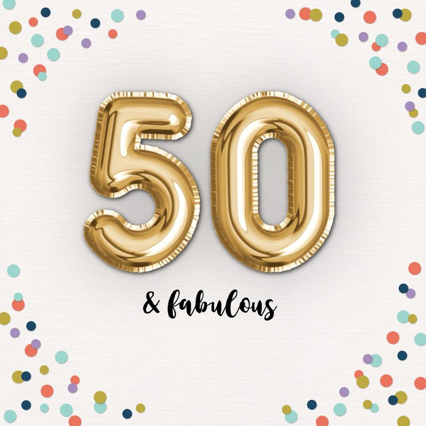 Verjaardagskaarten - Verjaardagskaart Fabulous-50