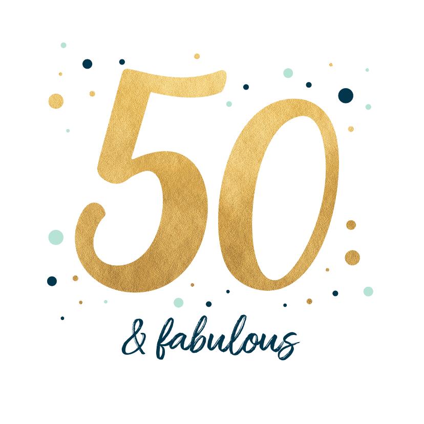 Verjaardagskaarten - Verjaardagskaart fabulous fifty