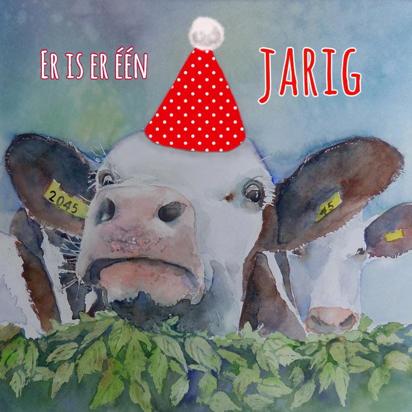 Verjaardagskaarten - Verjaardagskaart Feest koe