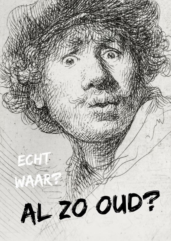Verjaardagskaarten - Verjaardagskaart felicitatie Rembrandt van Rijn