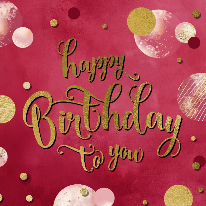 Verjaardagskaarten - Verjaardagskaart felicitatie wenskaart confetti vrouw