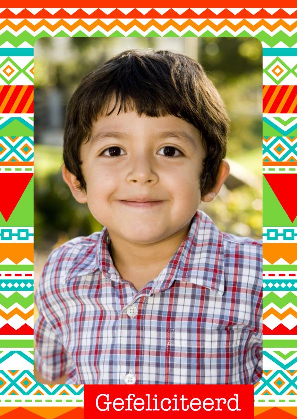 Verjaardagskaarten - Verjaardagskaart Fotokaart Patroon
