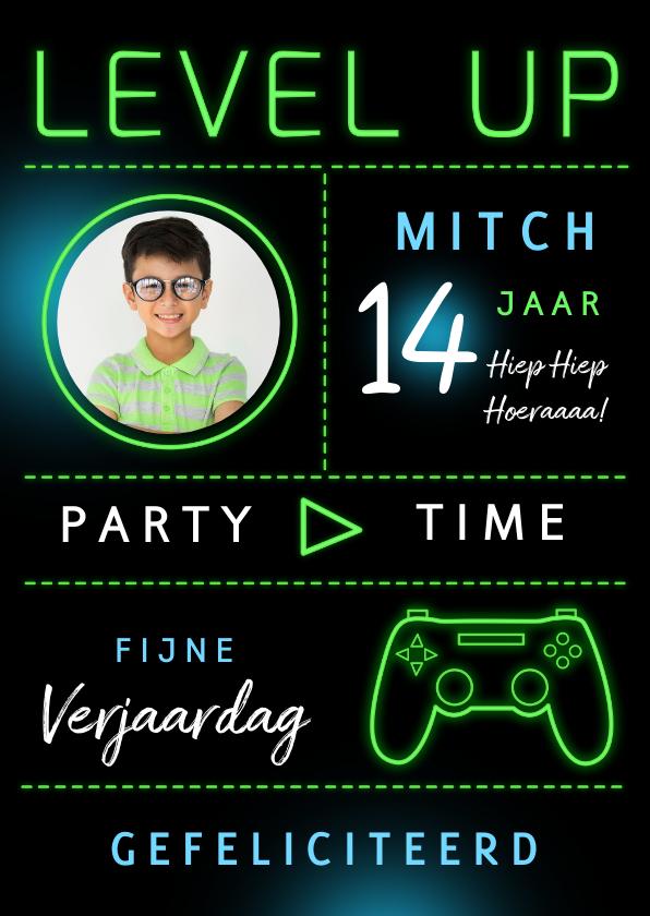 Verjaardagskaarten - Verjaardagskaart game level up