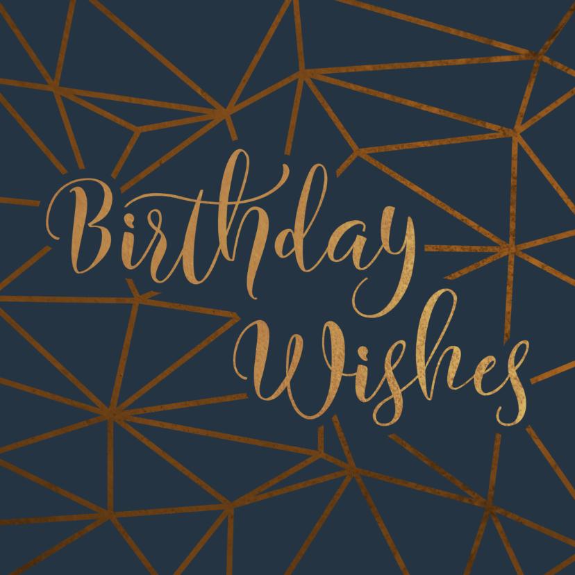 Verjaardagskaarten - Verjaardagskaart geometrisch patroon Birthday Wishes