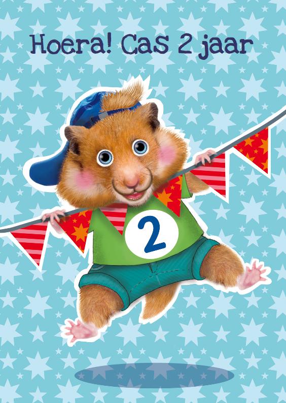 Verjaardagskaart Hamster Jongen 2 Jaar Kaartje2go