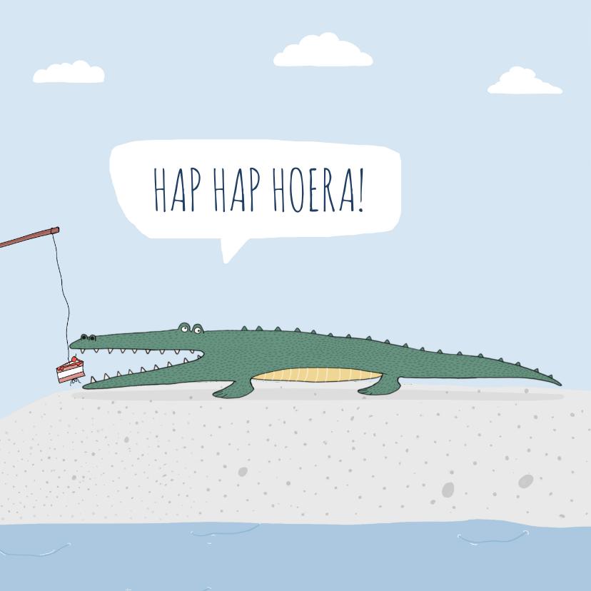 Verjaardagskaarten - Verjaardagskaart Hap Hap Hoera!