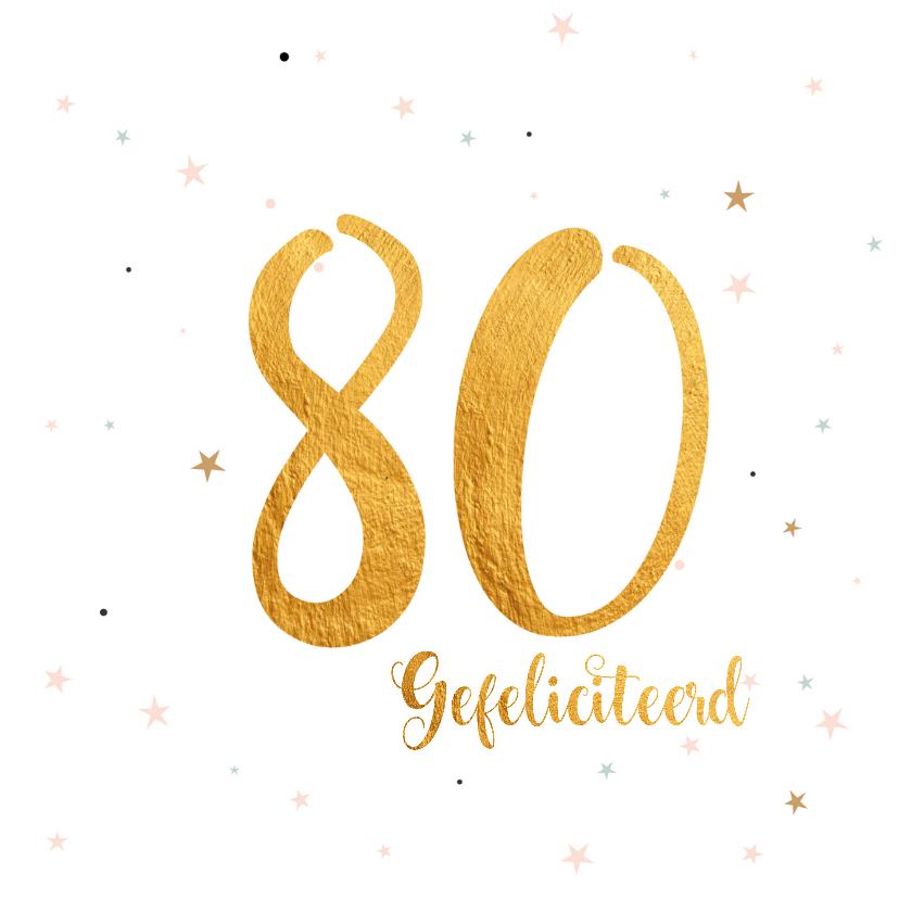 Verjaardagskaarten - Verjaardagskaart happy 80 jaar