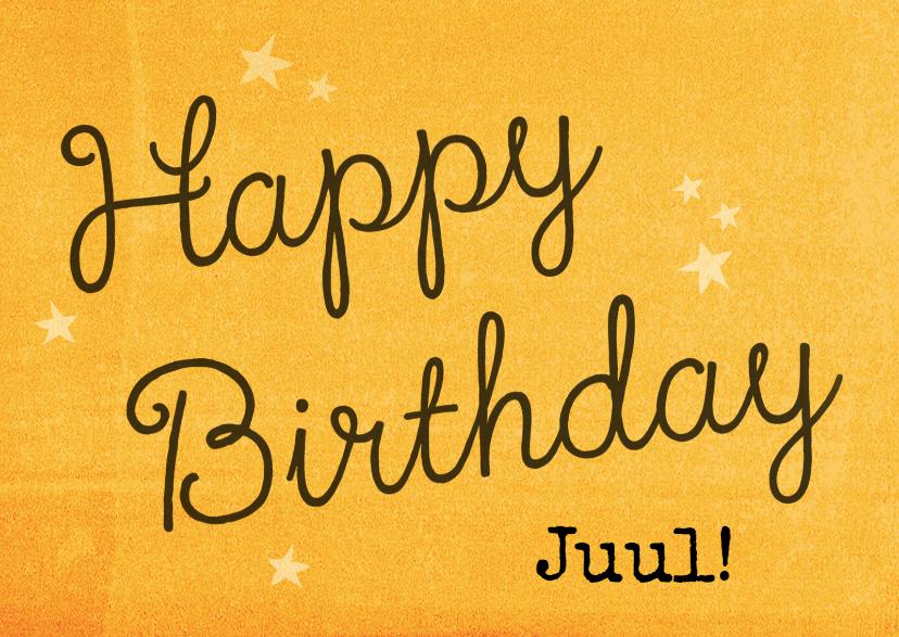 Verjaardagskaarten - Verjaardagskaart Hip +  Sterren