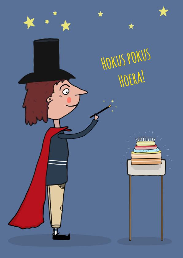 Verjaardagskaarten - Verjaardagskaart Hokus Pokus!