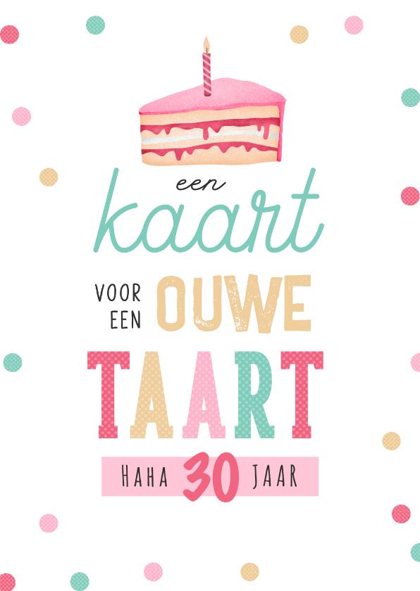 Verjaardagskaarten - Verjaardagskaart humor taart confetti vrouw