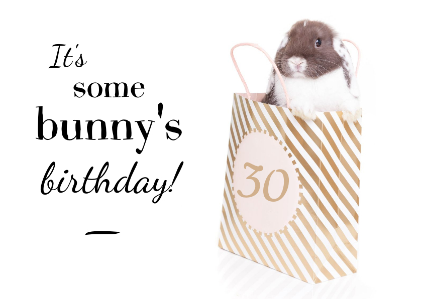 Verjaardagskaarten - Verjaardagskaart - It's some bunny's birthday
