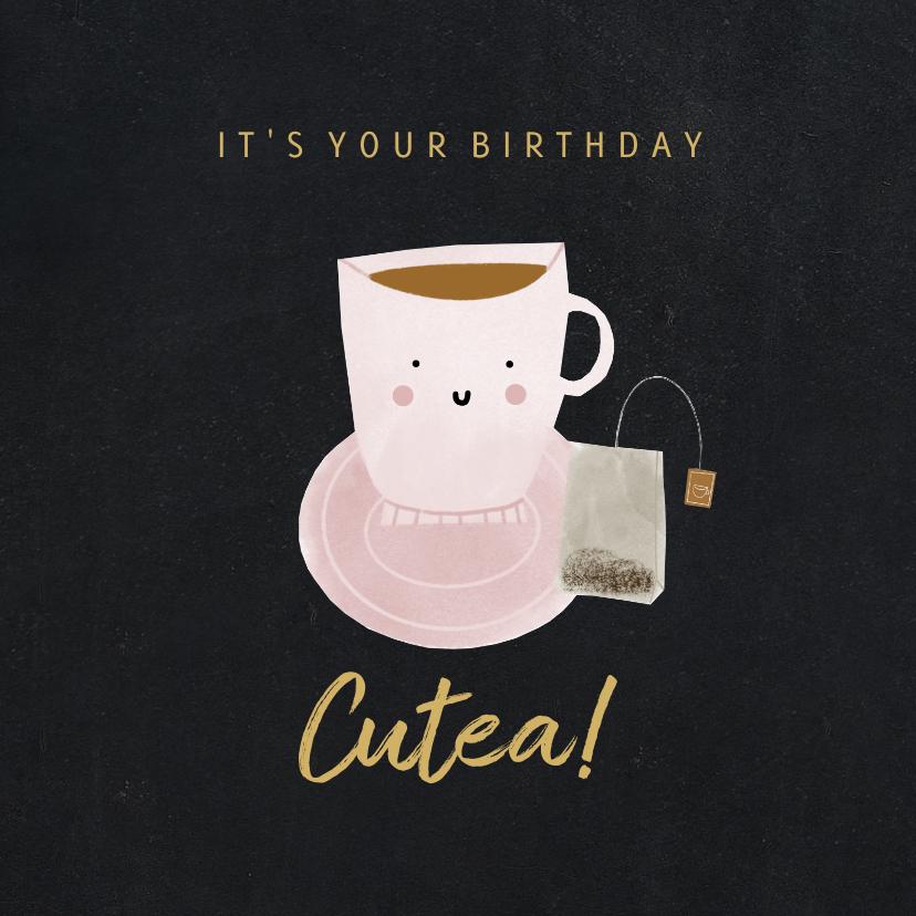 Verjaardagskaarten - Verjaardagskaart it's your birthday cutea krijtbord