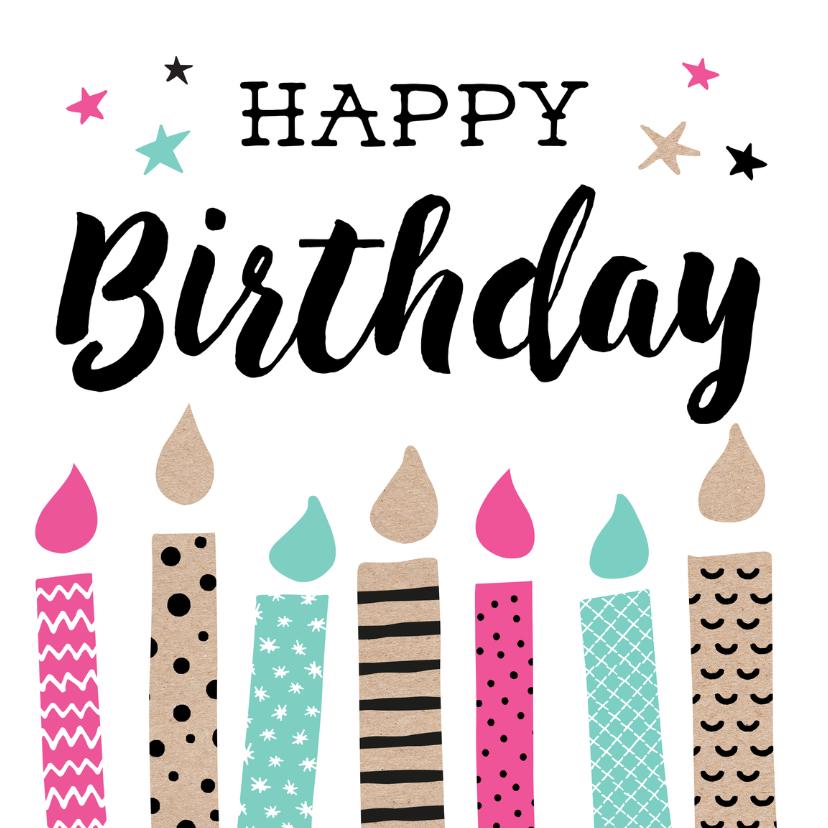 Verjaardagskaarten - Verjaardagskaart Kaars 99