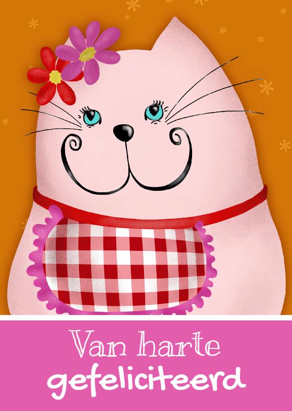 Verjaardagskaarten - Verjaardagskaart kat mama