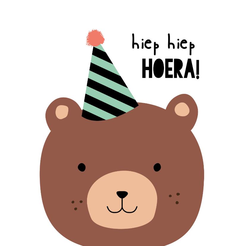 Verjaardagskaarten - Verjaardagskaart kind - Hiep hiep hoera, bere-gezellige dag