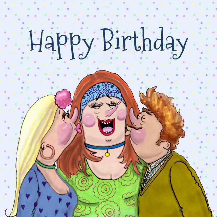 Verjaardagskaarten - Verjaardagskaart Kisses for you