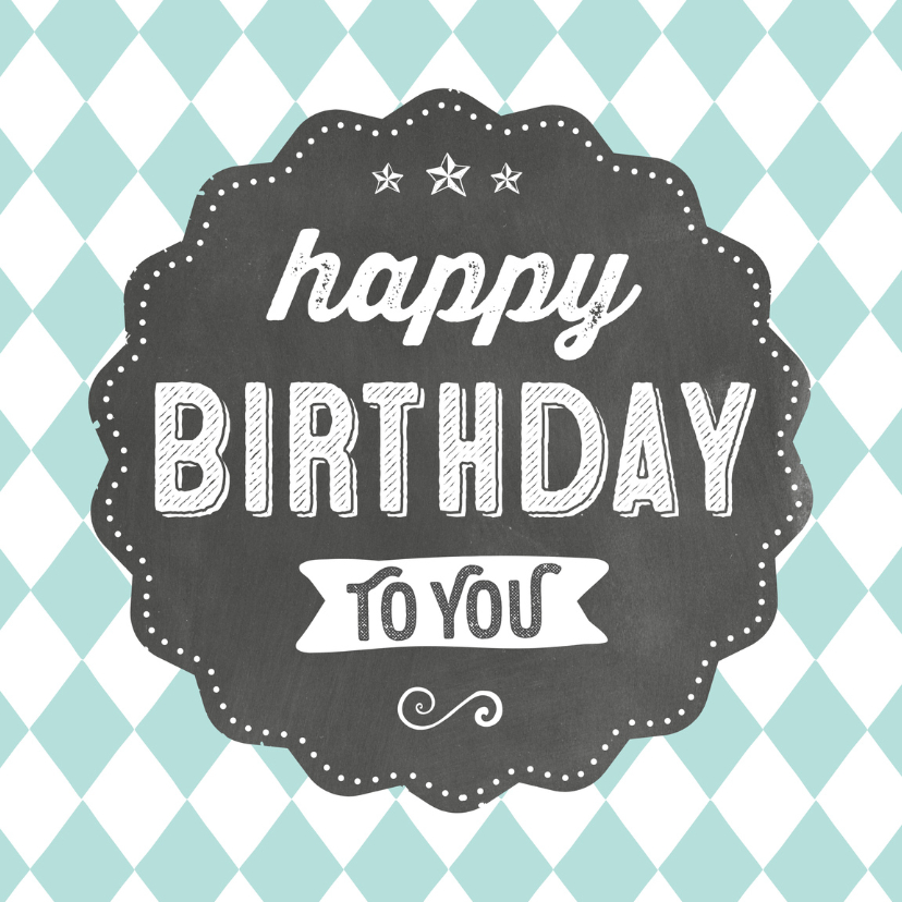Verjaardagskaarten - Verjaardagskaart Krijtbord 99