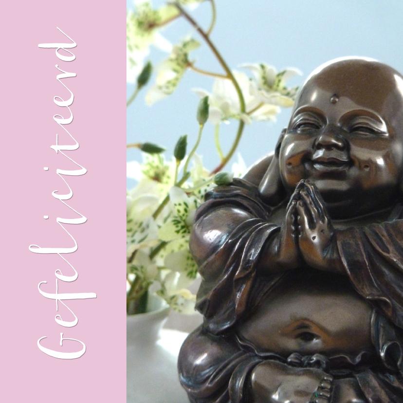 Verjaardagskaarten - Verjaardagskaart lachende Boeddha
