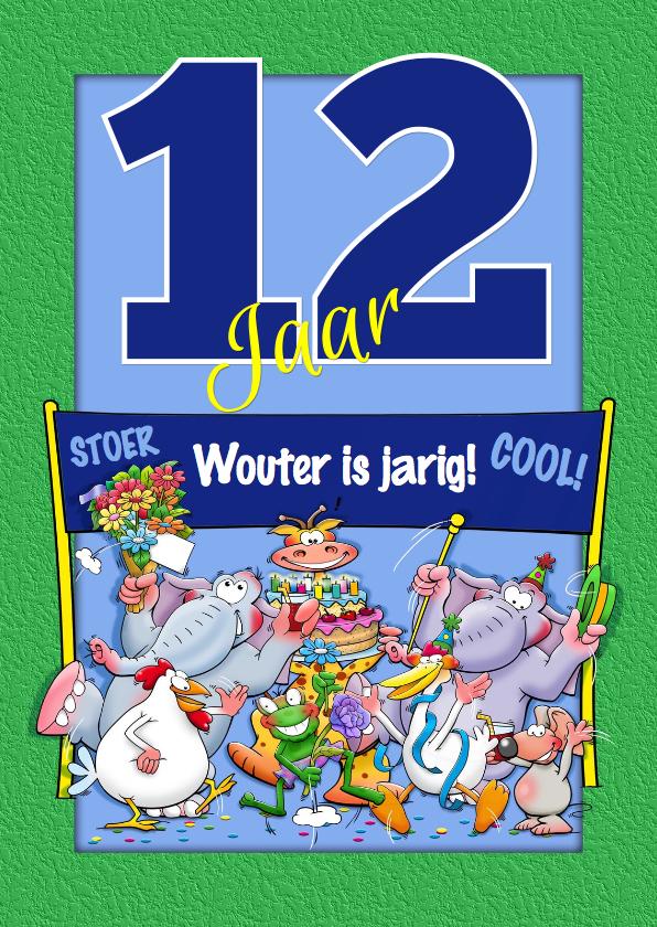 Verjaardagskaarten - Verjaardagskaart leuk, 12 jaar aanpasbaar