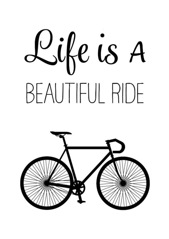 Verjaardagskaarten - Verjaardagskaart man fiets - SG