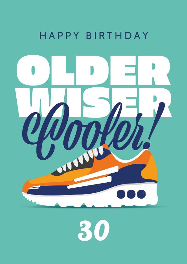 Verjaardagskaarten - Verjaardagskaart man sneakers sport happy birthday