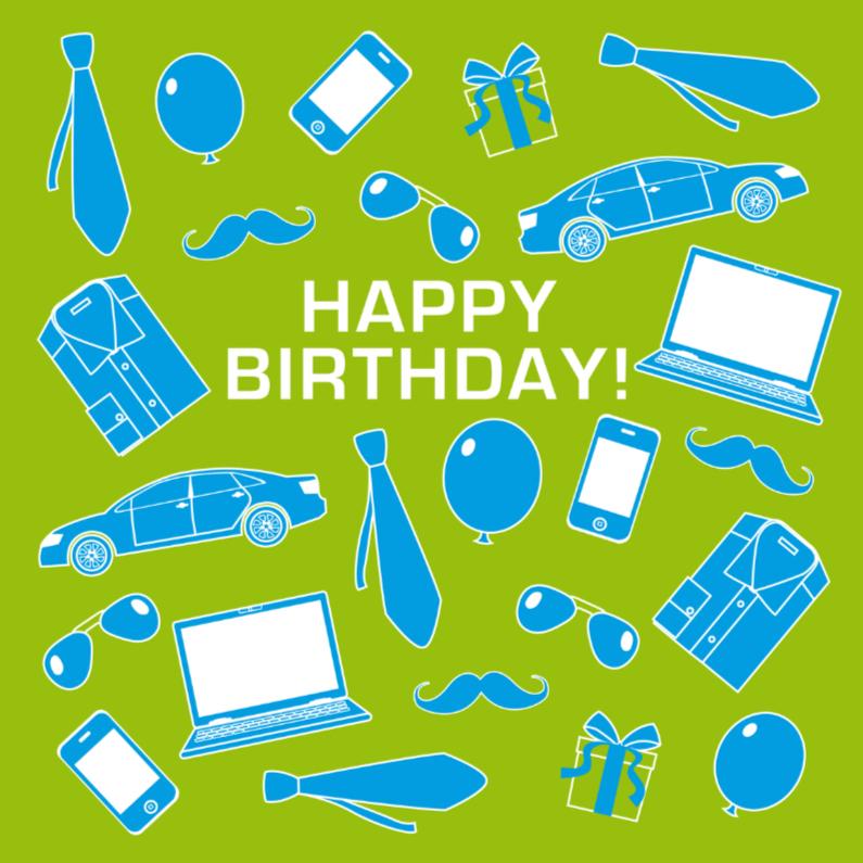 Verjaardagskaarten - Verjaardagskaart man stoer