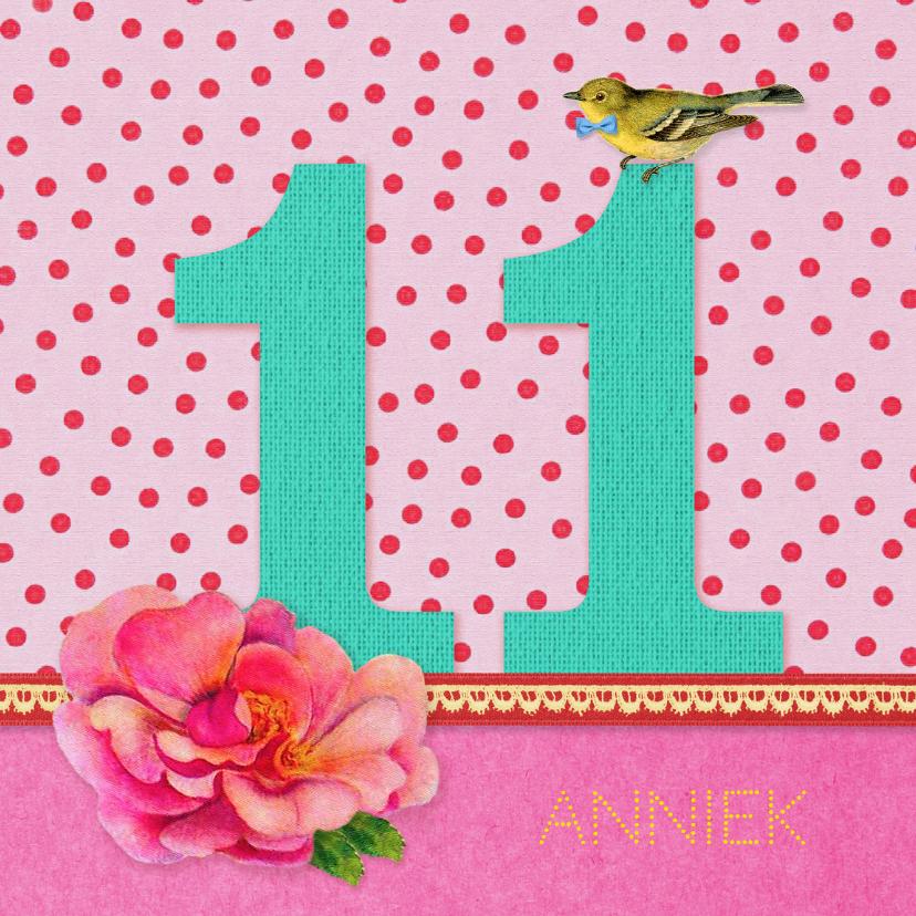 Verjaardagskaarten - Verjaardagskaart Meisje 11