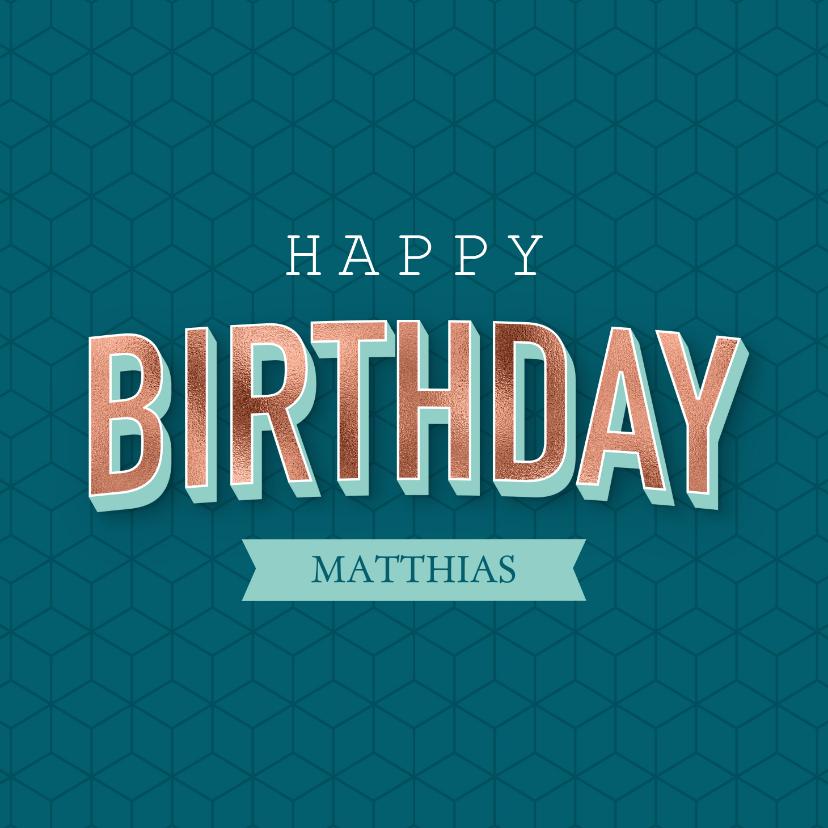 Verjaardagskaarten - Verjaardagskaart met geometrisch patroon