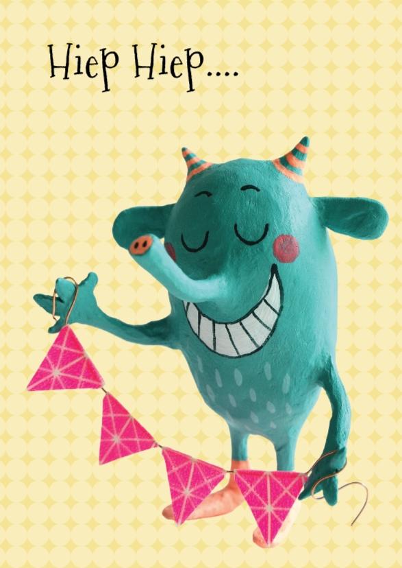 Verjaardagskaarten - Verjaardagskaart met monster