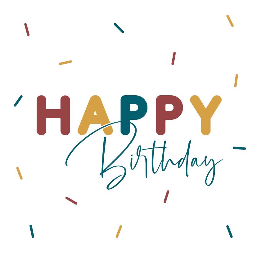 Verjaardagskaarten - Verjaardagskaart met sprinkels